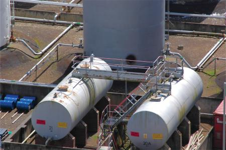 Diesel fuel storage tanks